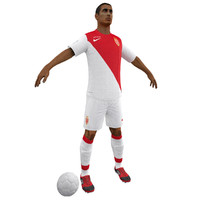 3dsmax soccer player body