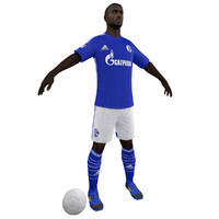soccer player body 3d model