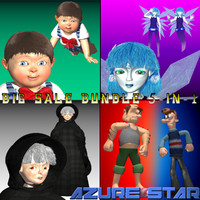 3d model star sale 5-in-1
