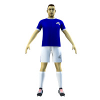 soccer rigged 3d model