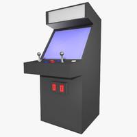 3d model arcade machine