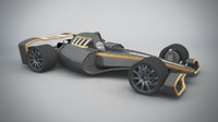 cinema4d concept formula 1 car