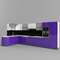 modern kitchen set 3d model