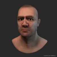 fighter - male head obj