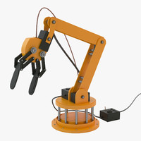 3d model industrial robotic arm