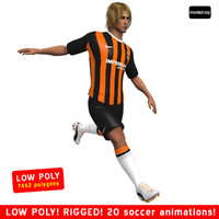 3ds max soccer player