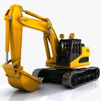 Cartoon Excavator