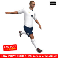 soccer player england body 3d max
