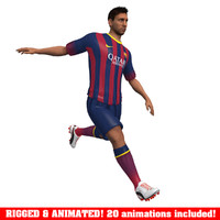 3d messi animations ball soccer