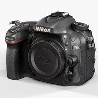 3d low-poly nikon d7100 black model