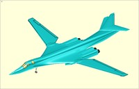 Tupolev Tu-160 Supersonic Bomber Aircraft Solid Assembly Model