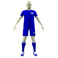 soccer rigged 3d model