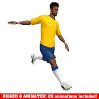 maya neymar animations ball soccer