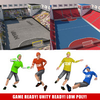 3d street soccer pack games model