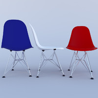3d eames plastic chairs