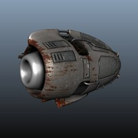 3d model futuristic jet engine