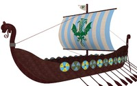 viking ship 3d obj