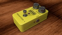 dunlop mxr micro distrortion 3d model