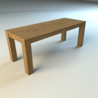 simple table 3d 3ds