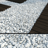 3d white pebbles