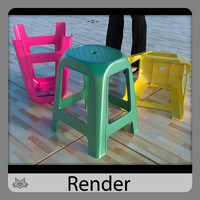3d stool banco