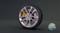 3d car brake model