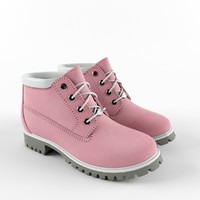 Woman pink waterproof boot