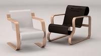 3d model alvar aalto chair