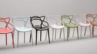 3d model kartell masters chair