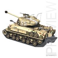 3d m-51 sherman tanks isherman