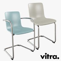 3d vitra hal chair cantilever