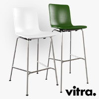 vitra hal stool chair 3d max