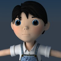 3ds max child boy human