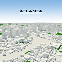 atlanta cityscape 3d model