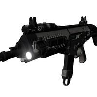 3d model arx 160 assault rifle