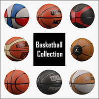 3d ball basketball basket model