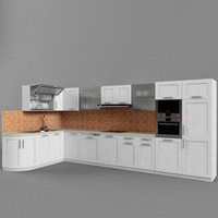 kitchen set 02 3d 3ds