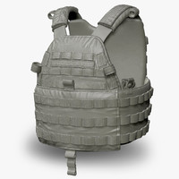 emerson 6094a bullet-proof vest 3d model