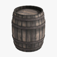 medieval wooden barrel 3d model