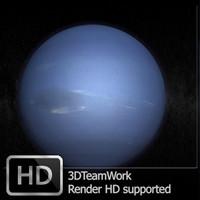 neptune hd render 3d model
