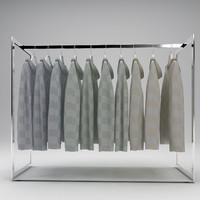 rack hoodies 3d max
