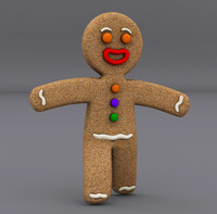3d gingerbread man model