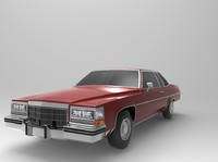 cadillac coupe deville 1982 3d model