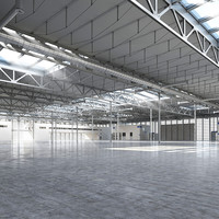 warehouse realistic 3d model