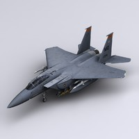 f-15e strike eagle fighter 3d max