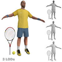 3d tennis player 2