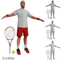 3ds max tennis player 3