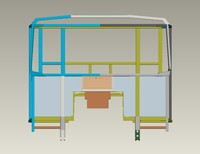obj metal frame cab dump truck