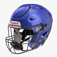 riddel speedflex helmet blue 3d model