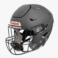 riddel speedflex helmet gray 3d model